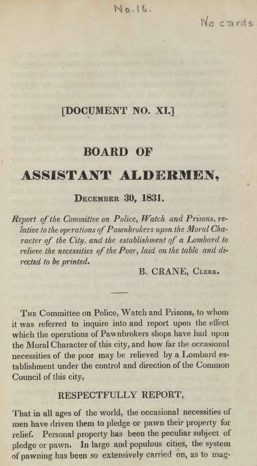 New York (N.Y.). - Board of Assistant Aldermen, December 30, 1831
