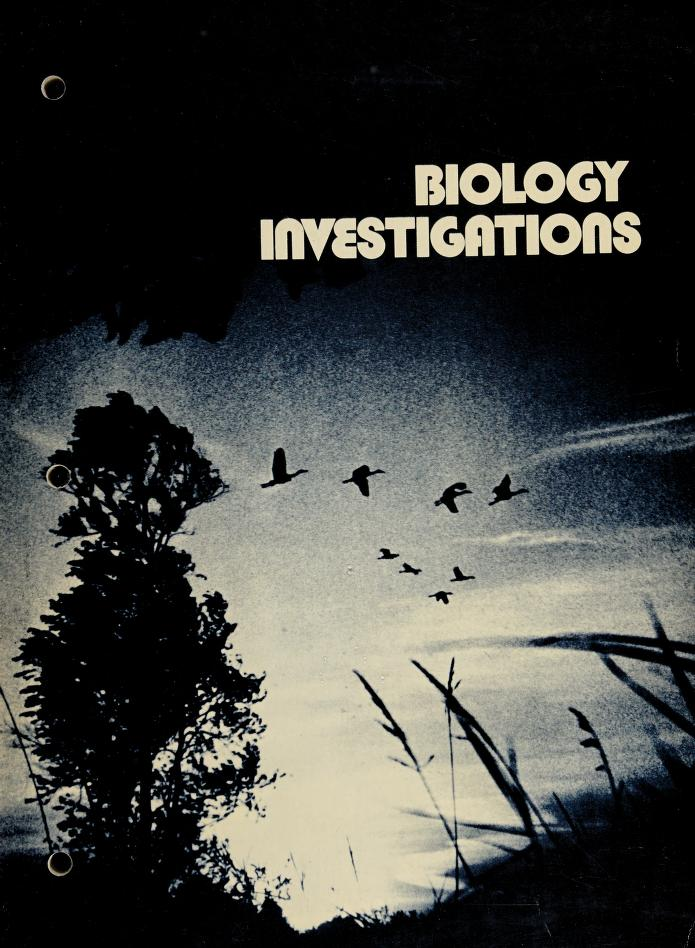Biology investigations by James Howard Otto