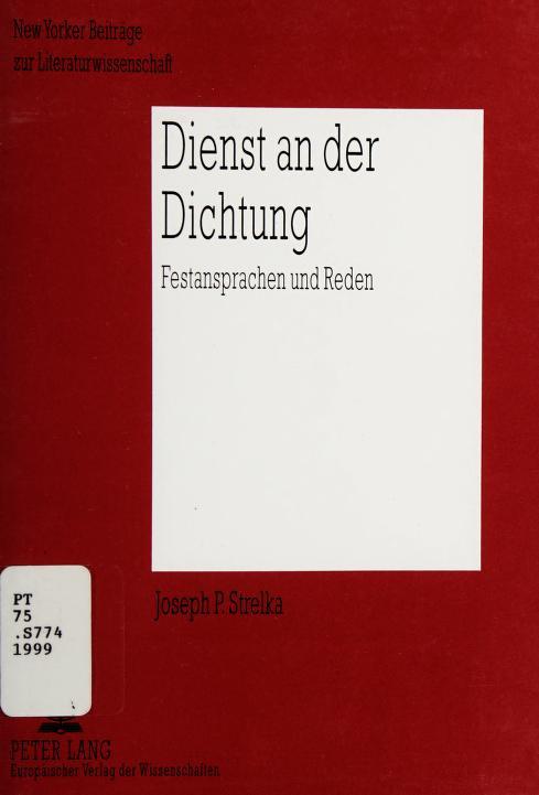 Dienst an der Dichtung by Joseph Strelka