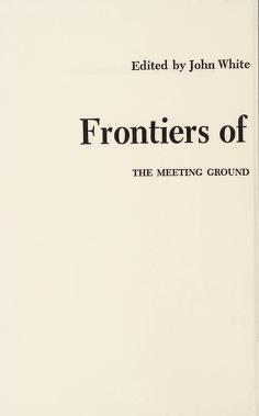 Cover of: Frontiers of consciousness | edited by John White.