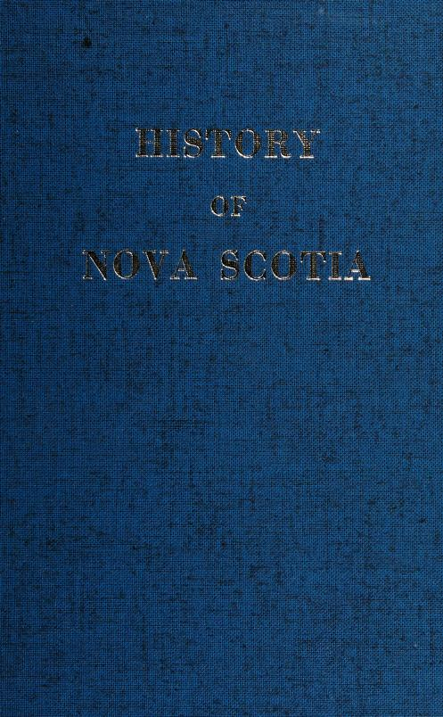 History of Nova Scotia by Thomas Chandler Haliburton