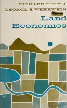 Cover of: Land economics   Richard Theodore Ely