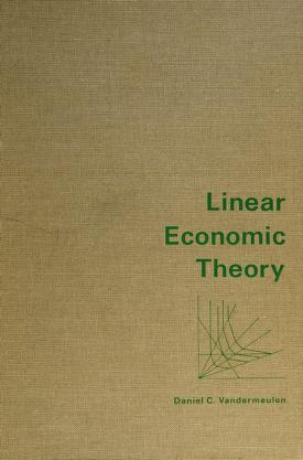 Cover of: Linear economic theory | Daniel Carlson Vandermeulen
