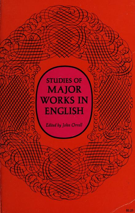 Studies of major works in English by John Orrell