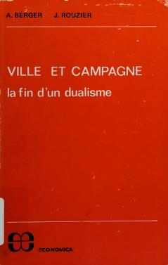 Cover of: Ville et campagne | Alain Berger