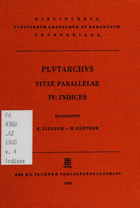 Vitae parallelae by Plutarch